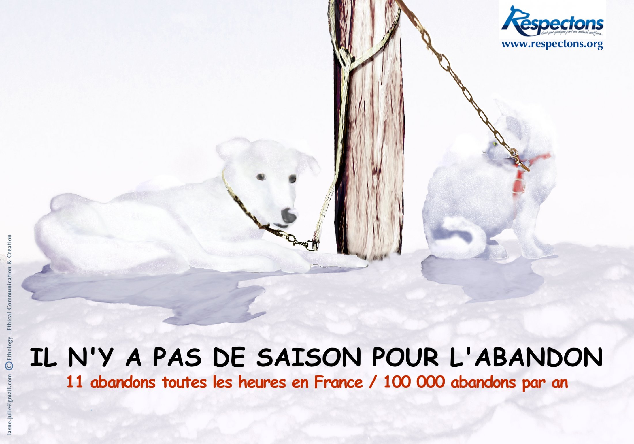 Affiche Abandon - RSPCA / Respectons
