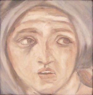 """fresco / fresque - Michel-Ange """"Sibylle De Delphes"""" Chapelle Sixtine"""
