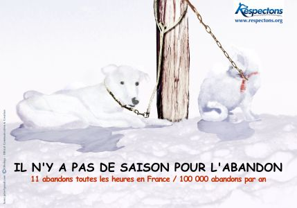 Affiche Abandon - RSPCA / Respectons