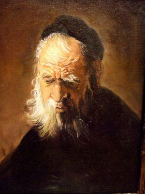 Copy of a Rembrandt's Selfportrait / COPIE d'un autoportrait de Rembrandt