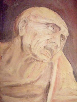"8. FRESQUE - Leonard De VINCI ""St Jerome"""