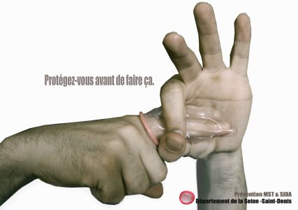 Campagne Doigt condom
